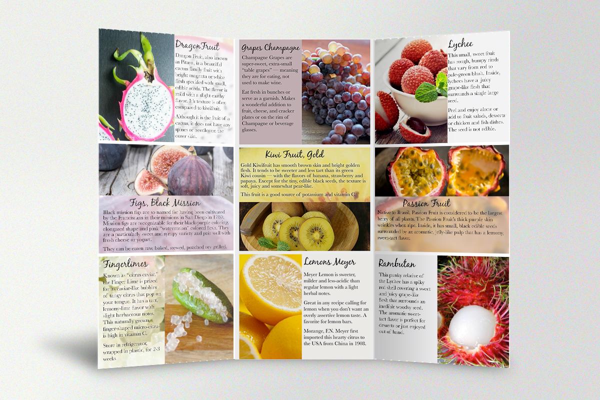 Specialty Produce Tri-Fold Brochure