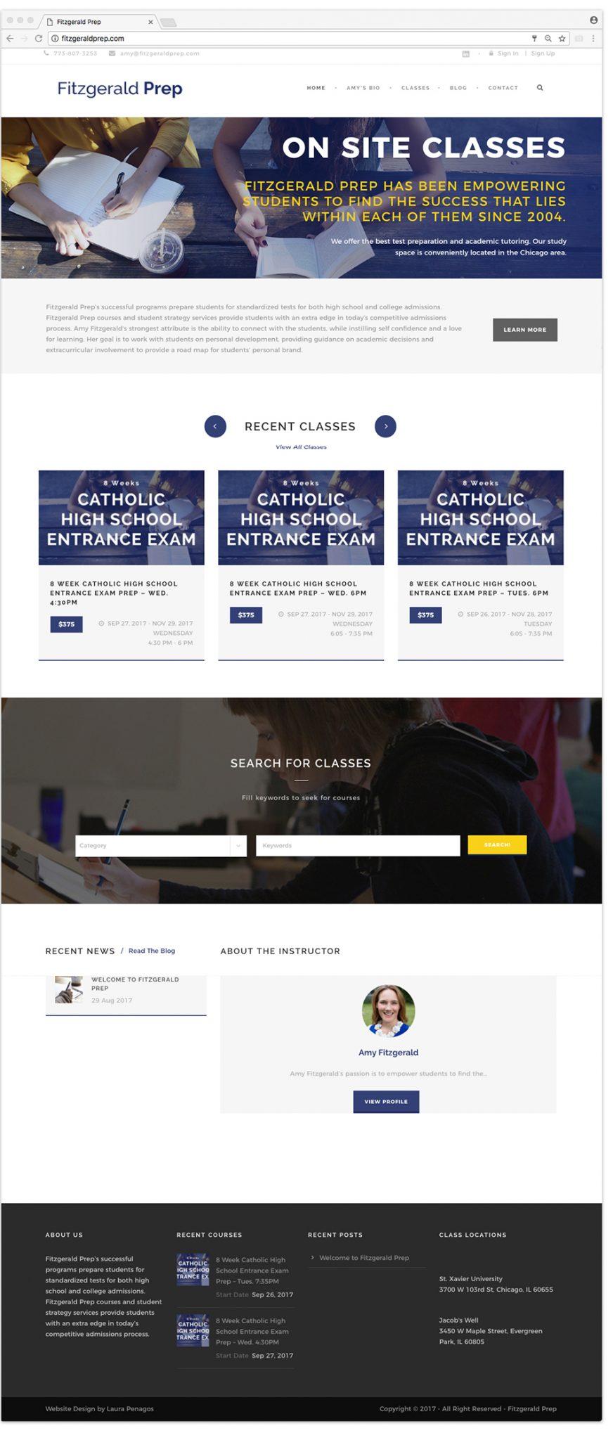 FitzgeraldPrep Website